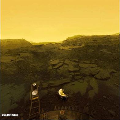 The Horizons Of Venus Earth Moon Mars And Titan Space